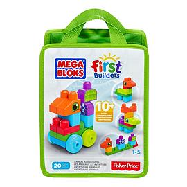 Mega Bloks First Builders Animal Adventures Playset Blocks and Bricks