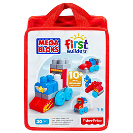 Mega Bloks Build N Learn Zoomin Vehicles Bag Blocks and Bricks