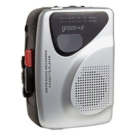 groov-e Retro Series Personal Cassette Player/Recorder with Radio Audio