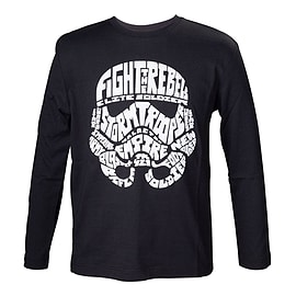 Star Wars Kids Unisex Stormtrooper Word Play Long Sleeved T-Shirt 110/116 B TSY11991STW-110/116 Clothing