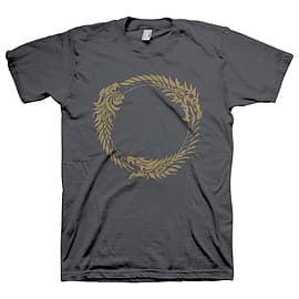 The Elder Scrolls Online Ouroboros Symbol T-Shirt Dark Grey XXL GE1198XXL Clothing