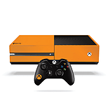 Xbox One Fluorescent Vinyl Wrap: Bright Orange screen shot 1
