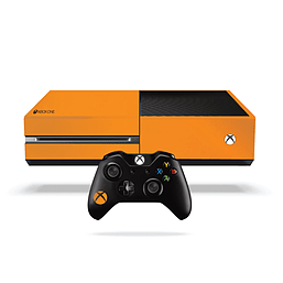 Xbox One Fluorescent Vinyl Wrap: Bright Orange XBOX ONE