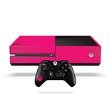 Xbox One Fluorescent Vinyl Wrap: Bright Pink screen shot 1