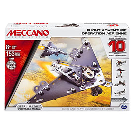Meccano Flight Model Set (10-Piece) Blocks and Bricks