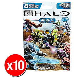 Halo Mega Bloks Series Mystery Packs Bravo Series x10 Blocks and Bricks