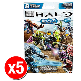 Halo Mega Bloks Series Mystery Packs Bravo Series x5 Blocks and Bricks
