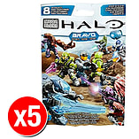 Halo Mega Bloks Series Mystery Packs Bravo Series x5 screen shot 1