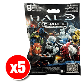 Halo Mega Bloks Series Mystery Packs Charlie Series x5 Blocks and Bricks