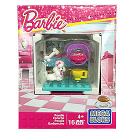 Mega Bloks Barbie Adopt a Pet - Coffee Shop Poodle Blocks and Bricks