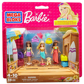 Mega Bloks Barbie Beach Vacation Blocks and Bricks