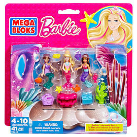 Mega Bloks Barbie Mermaid Party Figure Set Blocks and Bricks