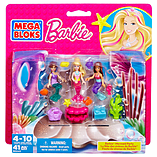 Mega Bloks Barbie Mermaid Party Figure Set screen shot 1