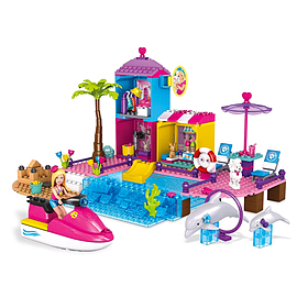 Mega Bloks Barbie Pet Beach Boardwalk Building Set Blocks and Bricks