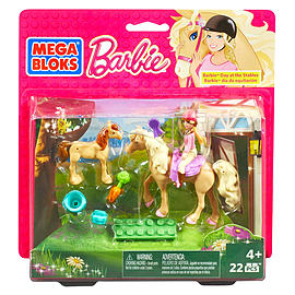 Mega Bloks Barbie's Day at the Stables Building Kit Blocks and Bricks