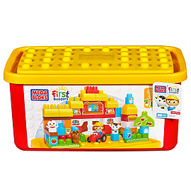 Mega Bloks Buildable Toy Chest Farm Tub (Colors May Vary) Blocks and Bricks