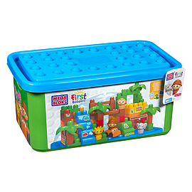 Mega Bloks Buildable Toy Chest Safari Tub (Colors May Vary) Blocks and Bricks