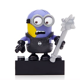 Mega Bloks Despicable Me Minions Series 1 Figure - Dave (Changing to Evil Purple) Blocks and Bricks