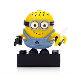 Mega Bloks Despicable Me Minions Series 1 Figure - Jerry (Holding a Banana) Blocks and Bricks