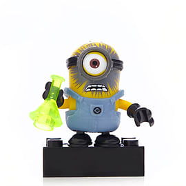 Mega Bloks Despicable Me Minions Series 1 Figure - Stuart (Chemical Explosion) Blocks and Bricks
