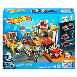 Mega Bloks Hot Wheels Grease Pit Garage Playset Blocks and Bricks