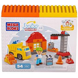 Mega Bloks Junior Builders Cool Construction Site Blocks and Bricks