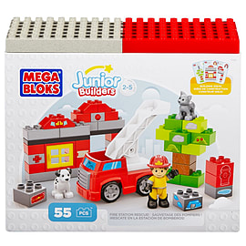 Mega Bloks Junior Builders Fire Station Rescue Blocks and Bricks