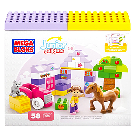 Mega Bloks Junior Builders Themed Mini Building Box (Pony) Blocks and Bricks