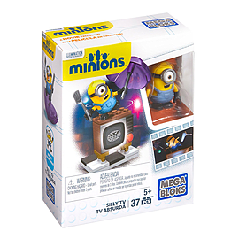 Mega Bloks Minions Silly TV 37pcs Blocks and Bricks