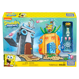 Mega Bloks SpongeBob SquarePants Bad Neighbors Playset Blocks and Bricks