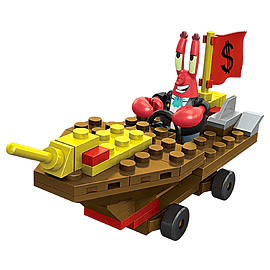 Mega Bloks SpongeBob Squarepants Mr. Krabs Racer Building Kit Blocks and Bricks
