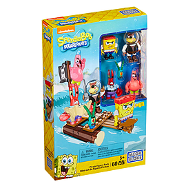 Mega Bloks SpongeBob SquarePants Pirate Figure Pack Building Set Blocks and Bricks