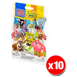 Mega Bloks Spongebob Squarepants Series 2 Minifigures Mystery Bag (x10 Packs) Blocks and Bricks