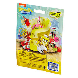 Mega Bloks Spongebob Squarepants Series 3 Minifigures Mystery Pack Blocks and Bricks