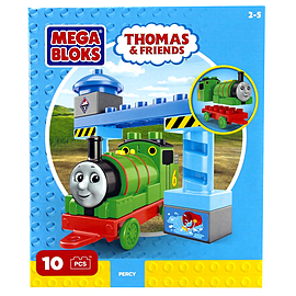 Mega Bloks Thomas & Friends Buildable Engine Set - Percy Blocks and Bricks