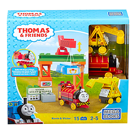 Mega Bloks Thomas & Friends Kevin & Victor Playset (Construction Site) Blocks and Bricks