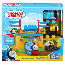 Mega Bloks Thomas & Friends Thomas & Stephen Playset (Castle Gates) Blocks and Bricks