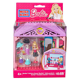 Mega Bloks Walk-in Closet Barbie Building Set Blocks and Bricks