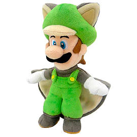 Official Nintendo Super Mario Plush Series Stuffed Toy - 9 Flying Squirrel Luigi Soft Toys