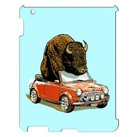 iPad 4 case Bison In Mini By James Fosdike Tablet