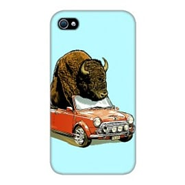 iPhone 4/4S Case Bison In Mini By James Fosdike Mobile phones