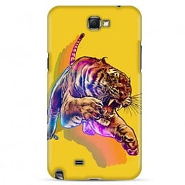 Samsung Galaxy Note 2 Case Rainbow Tiger By James Fosdike Mobile phones