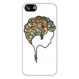 iPhone 5/5s Case Brain Music_white By Sweaty Eskimo Mobile phones