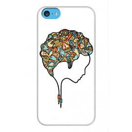 iPhone 5C Case Brain Music_white By Sweaty Eskimo Mobile phones