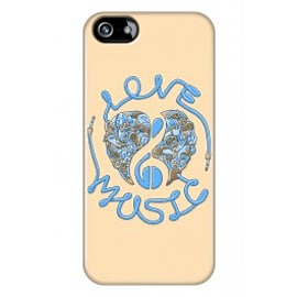 iPhone 5/5s Case Love Music_blue By Sweaty Eskimo Mobile phones