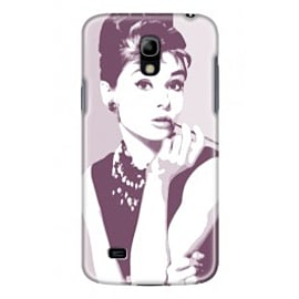 Samsung Galaxy S4 Mini Case Audrey Hepburn By VA Iconic Hollywood Mobile phones