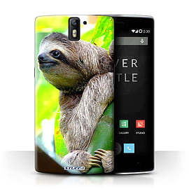 STUFF4 Phone Case/Cover for OnePlus One/Sloth Design/Wildlife Animals Collection Mobile phones