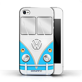 STUFF4 Phone Case/Cover for Apple iPhone 4/4S/Blue Design/VW Camper Van Collection Mobile phones