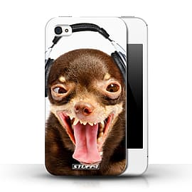 STUFF4 Phone Case/Cover for Apple iPhone 4/4S/Ridiculous Dog Design/Funny Animals Collection Mobile phones