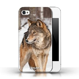 STUFF4 Phone Case/Cover for Apple iPhone 4/4S/Wolf Design/Wildlife Animals Collection Mobile phones